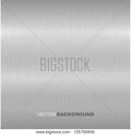 Metal brushed vector texture. Bright metallic surface.