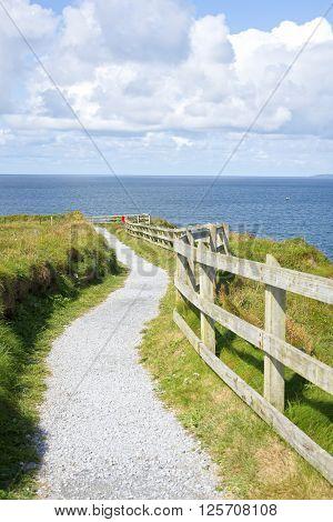 cliff walk on the wild atlantic way in ballybunion county kerry ireland