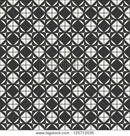 Geometric abstract seamless cube pattern with rhombuses, square, cube. Wrapping paper. Paper for scrapbook. Vector illustration. Background. Graphic texture. Optical illusion effect.