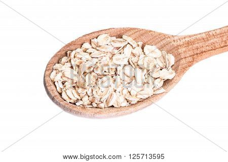 Oat Flakes Isolated On White Background ,healthy Food