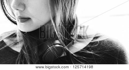 Earphones Headphone Audio Gadget Music Media Concept