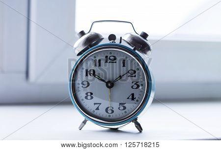 old bracket clock, vintage mechanical USSR alarm clock