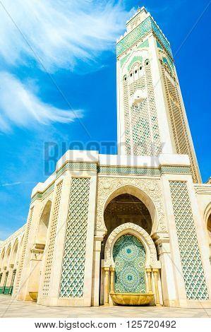 Hassan II Mosque Casablanca Morocco Africa. Religion concept