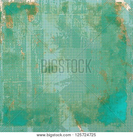 Distressed grunge texture, damaged vintage background with different color patterns: yellow (beige); green; blue; gray; cyan