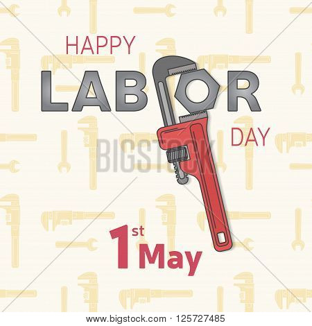 Labor, workers day icon EPS 10 vector stock illustration for greeting card, promotion, poster, flier, blog, article, social media, marketing. Vector illustration.
