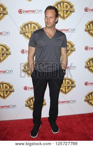 LAS VEGAS - APR 12: Patrick Wilson at the Warner Bros. Pictures Presentation during CinemaCon at Caesars Palace on April 12, 2016 in Las Vegas, Nevada