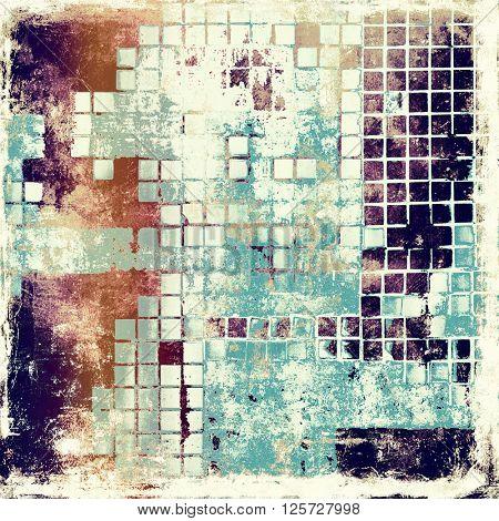 Abstract grunge background or damaged vintage texture. With different color patterns: yellow (beige); brown; blue; purple (violet); white