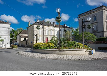COGNAC, FRANCE - MAY 06, 2015: Old houses in french town Cognac. The town gives its name to one of the world's best-known types of brandy