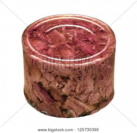 canned meat isolated