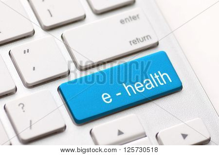 Computer keyboard with e health key  - stock image.