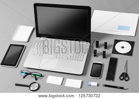 Responsive Web Design Brand Branding Template Designers - Stock Image