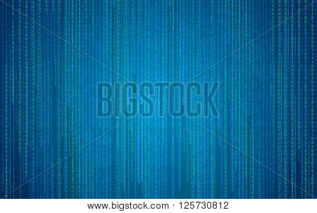 Digital binary code. Abstract background  - stock image.