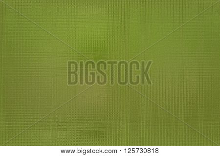 Textured blurred background in green colors. Simulate patterned coloured glass. Horizontal.