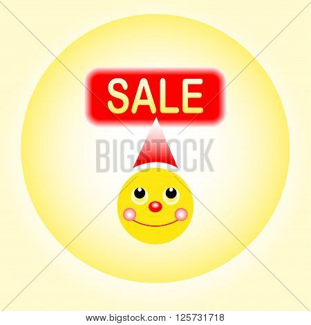 sale smiley on yellow background vektor illustration