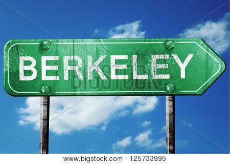 berkeley road sign on a blue sky background