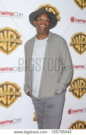 LAS VEGAS - APR 12: Samuel L Jackson at the Warner Bros. Pictures Presentation during CinemaCon at Caesars Palace on April 12, 2016 in Las Vegas, Nevada
