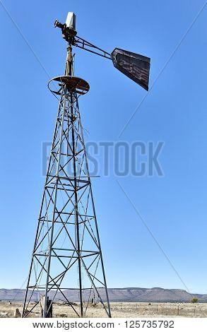 Abandoned Water Windmill southwest USA drought dry land