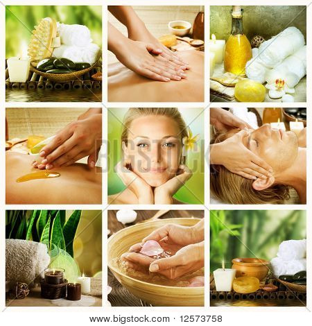 Spa Collage.Dayspa concept
