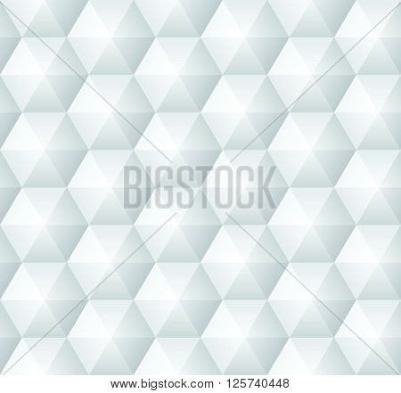 Modern geometric hexagonal vector seamless pattern with volume effect