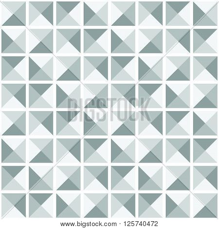 Abstract Gray Seamless Ornamental Geometric Polygonal Vector Pattern