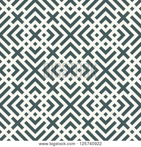 Modern Geometrical Tiles Ornamental Background - Vector Seamless Pattern