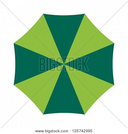 Vector illustration of classic elegant opened umbrella isolated on white background.
