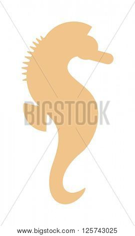 Sea horse vector illustration.