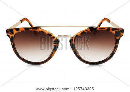 brown spotted sun glasses isolated on white background