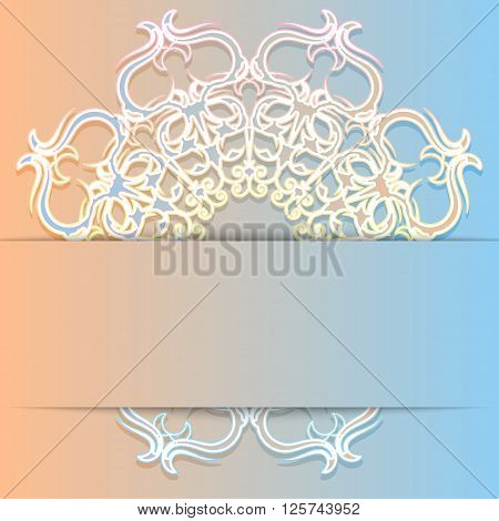 Elegant delicate design greeting card or invitation. It can be used in web design as a background or banner. Vector illustration.