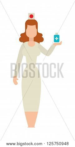 Doctor people young female girl doctor. Doctor woman silhouette stay. Doctor girl silhouette. Flat doctor woman abstartc silhouette. Woman medic staff, girl doctor isolated