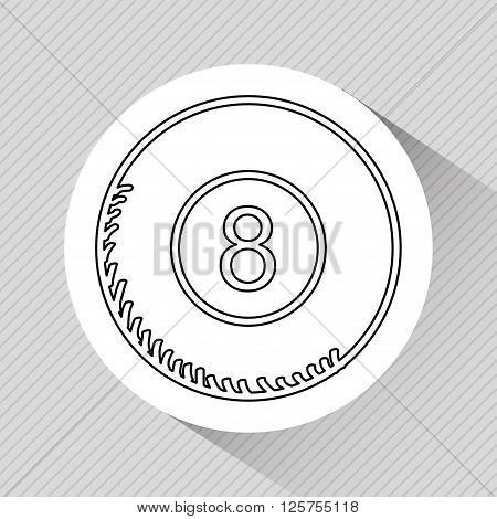 eight ball design, vector illustration eps10 graphic