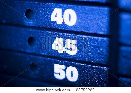 Weight Training Machine In Fitness Gym