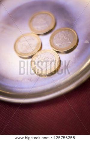 Euros Coins Change Money