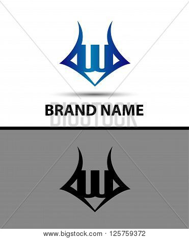 Letter W logo. Business logo vector illustration