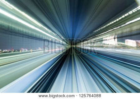Blur motion of tunnel