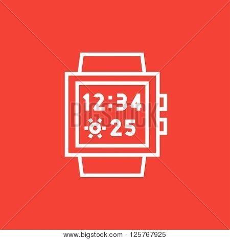 Smartwatch line icon.