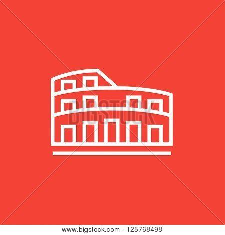 Coliseum line icon.