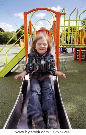 Child Playground Slide