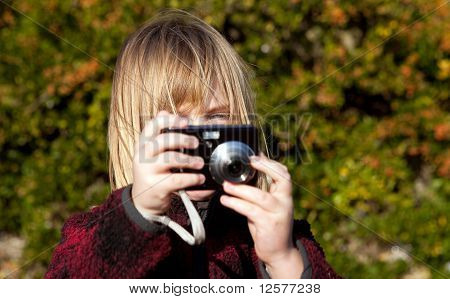 Child Photographer Photographing Taking Photo