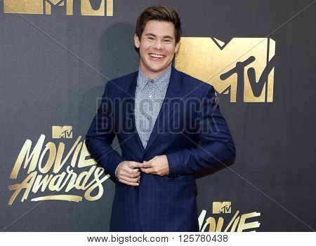 Adam DeVine at the 2016 MTV Movie Awards held at the Warner Bros. Studios in Burbank, USA on April 9, 2016.