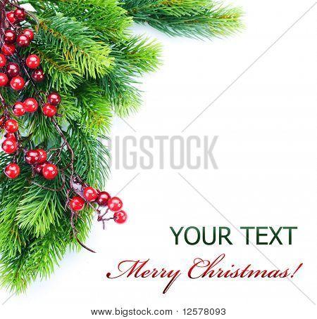 Постер, плакат: Рождественская елка украшения, холст на подрамнике
