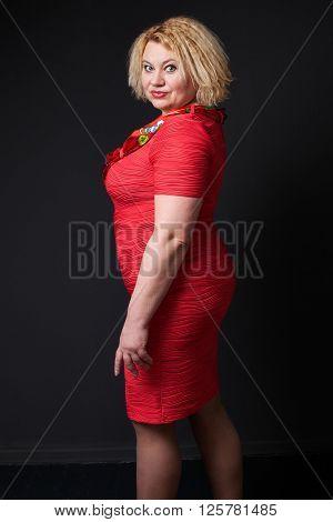 Close Up Portrait Of A Mature Woman
