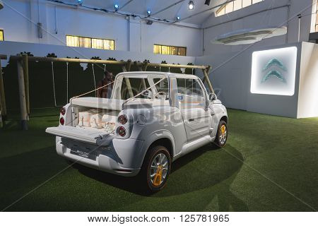 New Citroen Mehari On Display At Fuorisalone 2016 In Milan, Italy