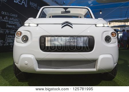 Detail Of New Citroen Mehari On Display At Fuorisalone 2016 In Milan, Italy