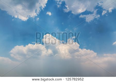 Beautiful landscape of Clouds with blue sky