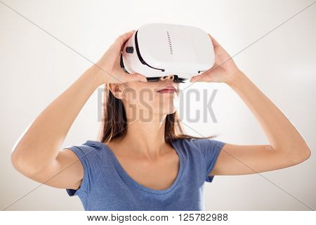 Woman use of VR device