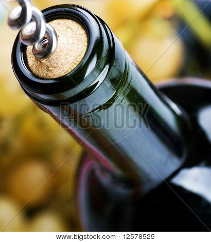 Wine Bottle closeup