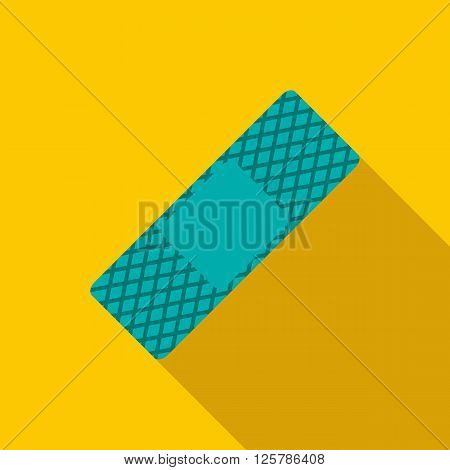 Medical plaster icon in flat style on a yellow background