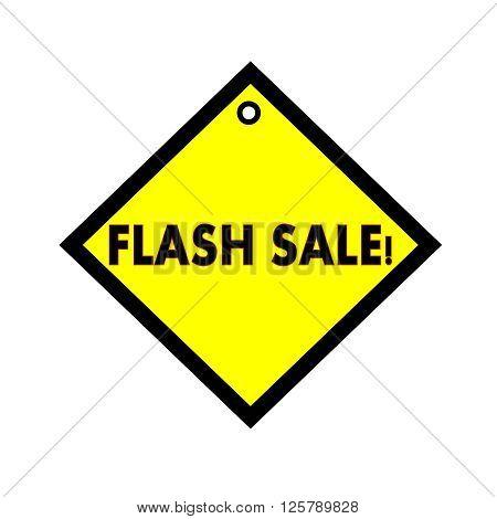 Flash sale black wording on quadrate yellow background