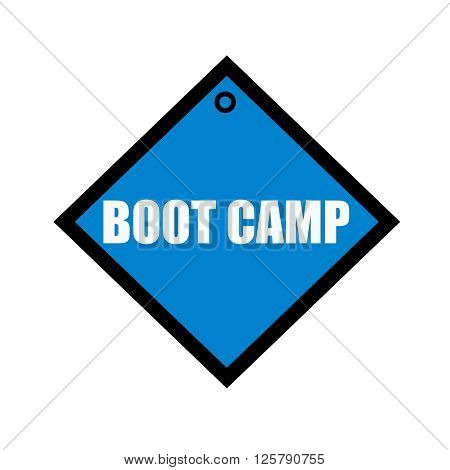 boot camp white wording on quadrate blue background